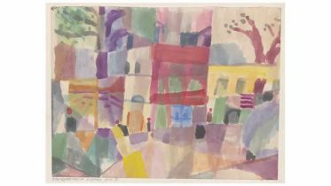 Red and Yellow Houses in Tunis (Klee)