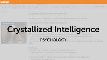Intelligence - Crystallized Intelligence