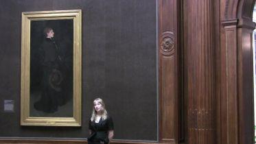 Arrangement in Brown and Black, Portrait of Miss Rosa Corder (whistler)
