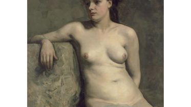 Female Nude Sitting (Stauffer-Bern)