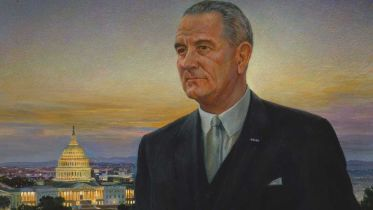 Painting of Lyndon B. Johnson (Peter Hurd)