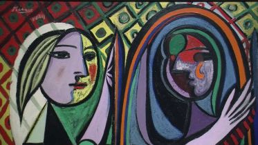 Girl Before a Mirror (Picasso)