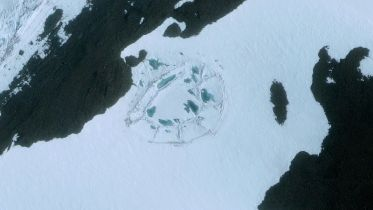 Antarctic - Ice Shape from Space