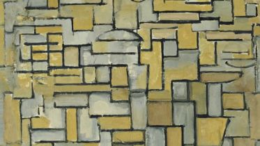 Composition in Brown and Gray (Mondrian)