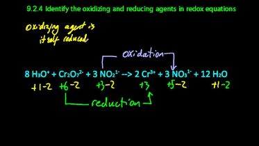 Chemical Reaction - Oxidizing and Reducing Agents