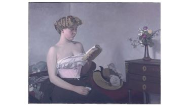 Reading Woman (Vallotton)