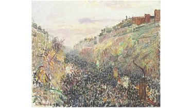 Mardi Gras, Sunset, Boulevard Montmartre (Pissarro)