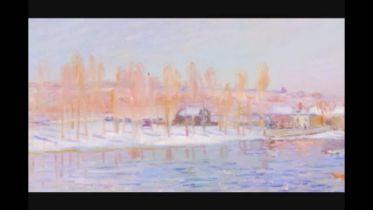 Landscape: Snow Scene (Sisley)