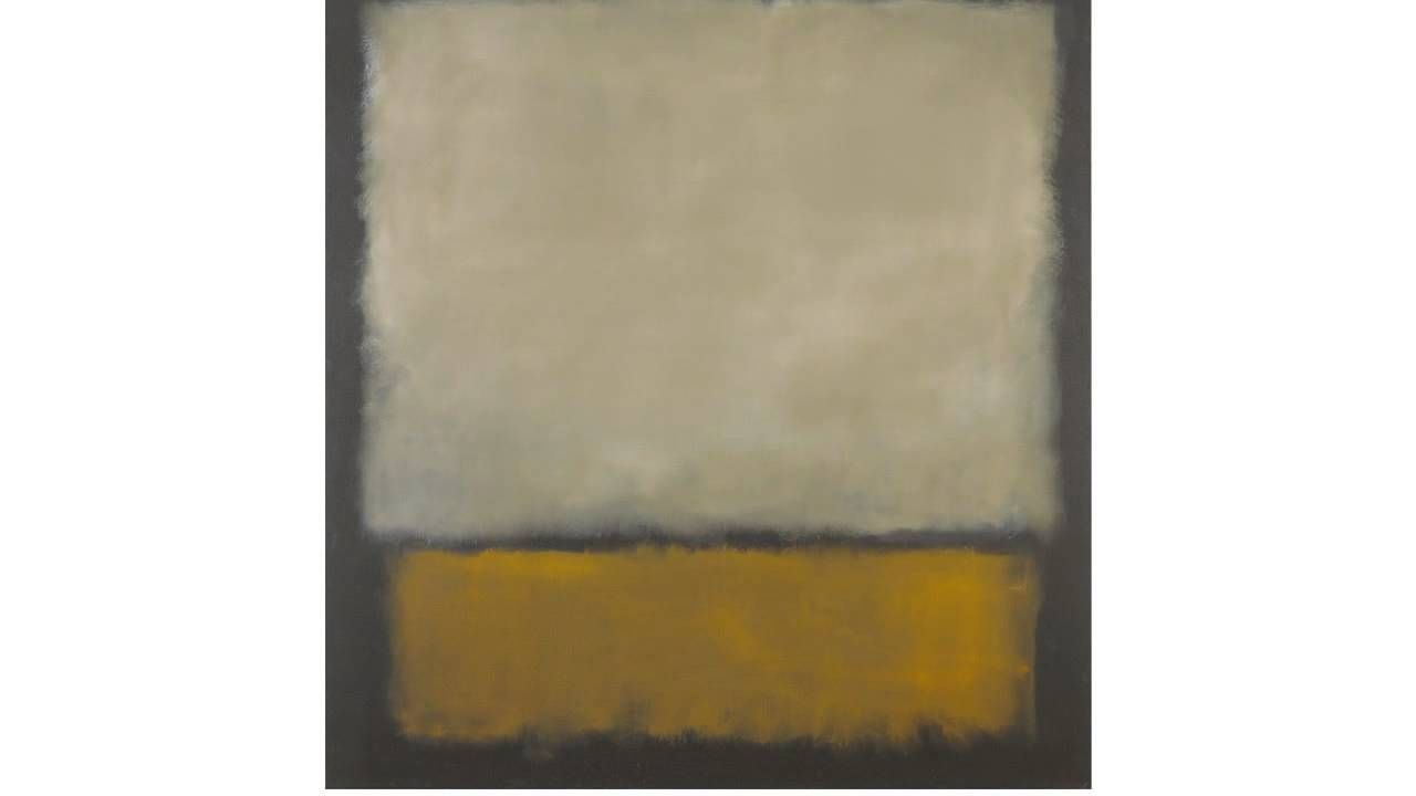 No. 7 [Dark Brown, Grey, Orange] (Rothko)
