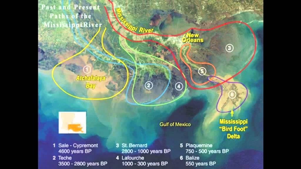 River Delta - Formation (Mississipi River)