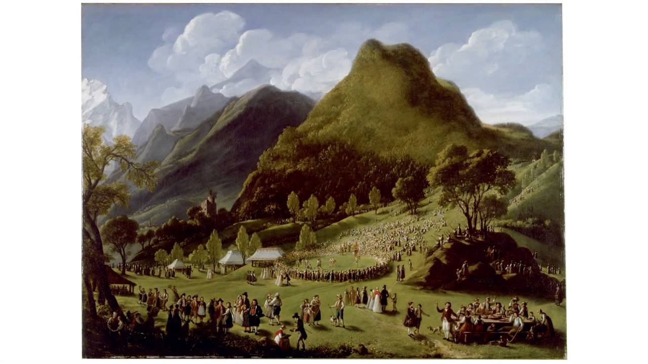 Celebration of Alpine Herders in Unspunnen on August 17, 1808 (Vigée Le Brun)