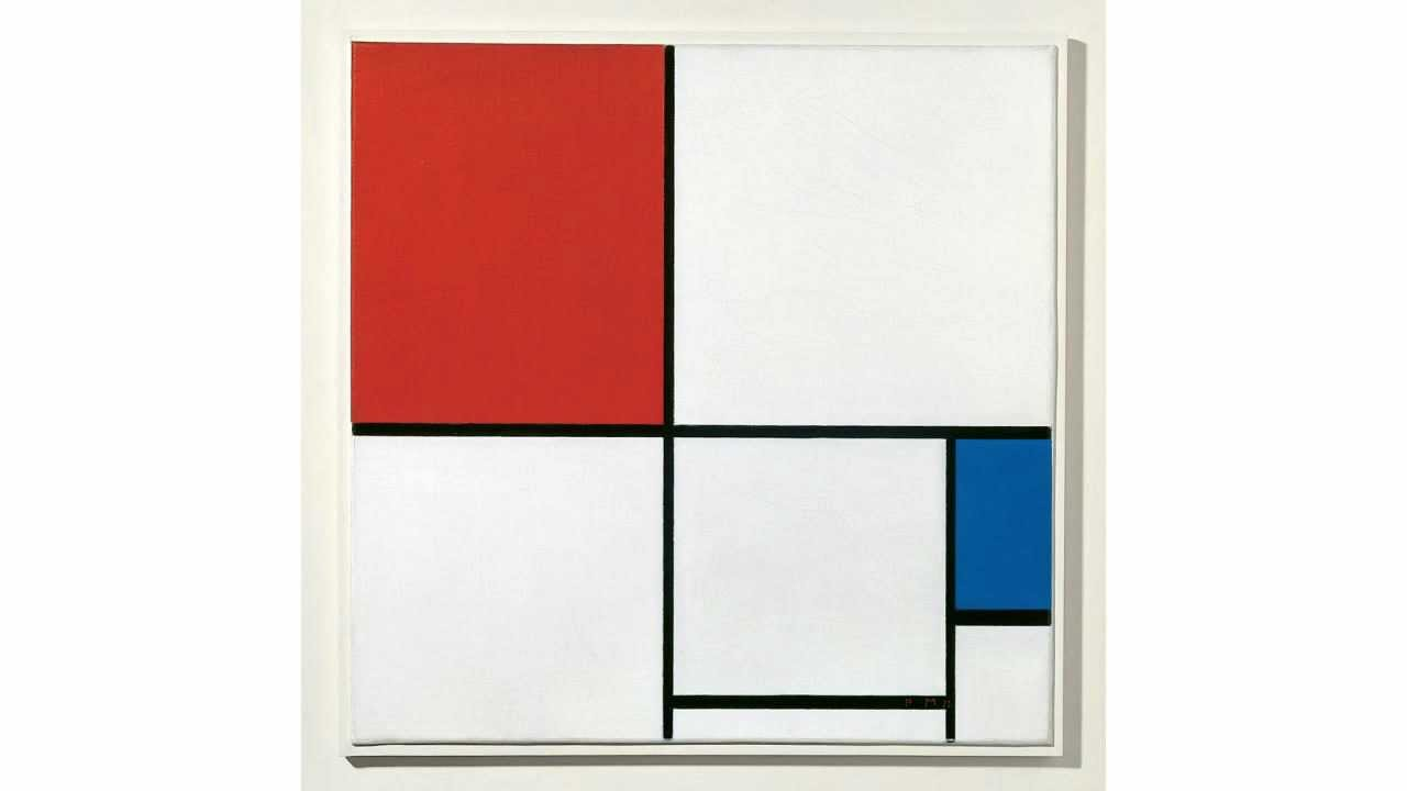 Composition I and Composition a (Mondrian)