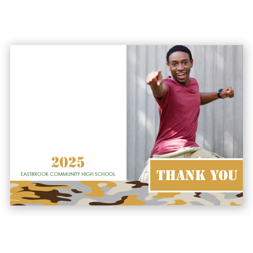 Collegiate Camo Thank You Notes