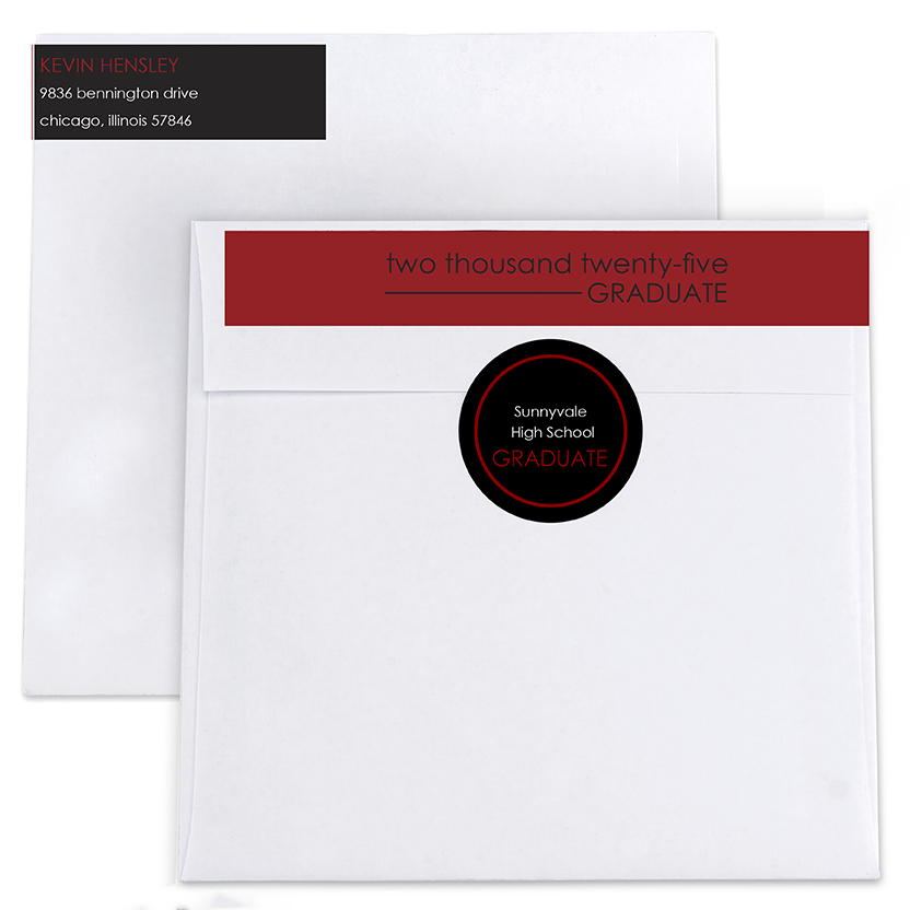 Finish Line Return Address Labels and Seals