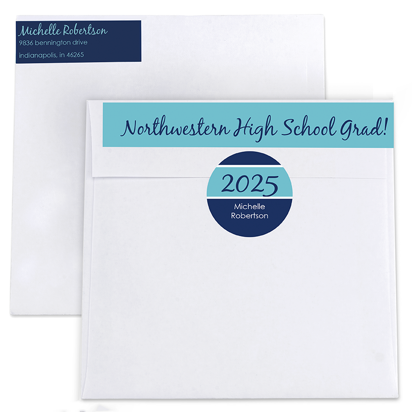 Graduation Celebration Return Address Labels and Seals