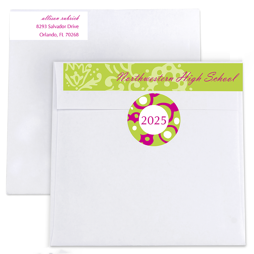 Preppy Paisley Return Address Labels and Seals