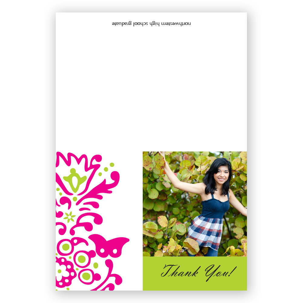 Preppy Paisley Thank You Notes