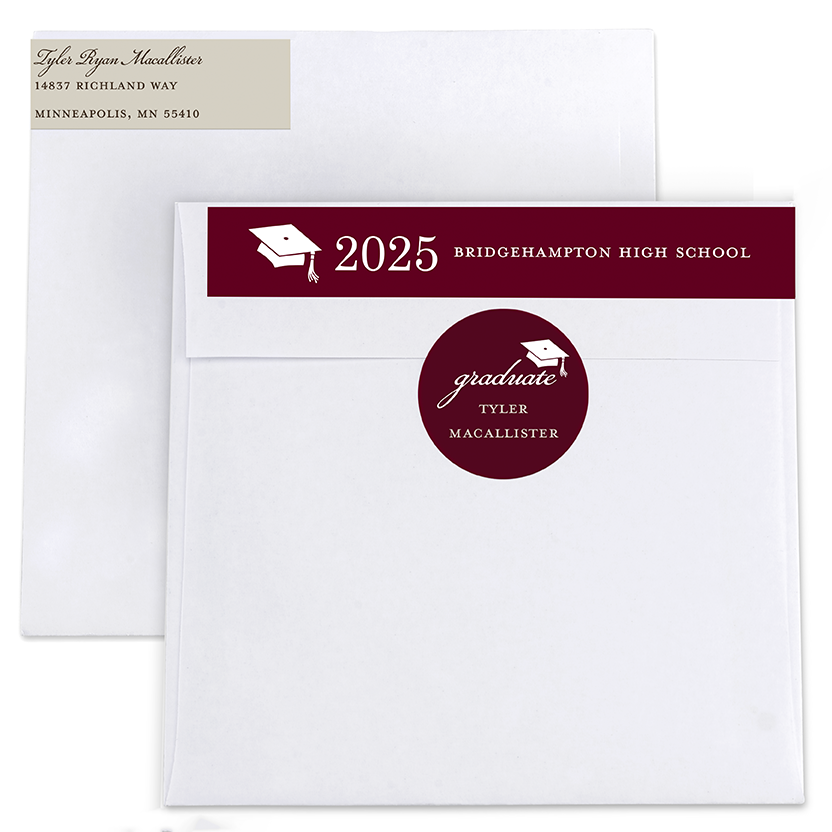 Senior Style Return Address Labels and Seals