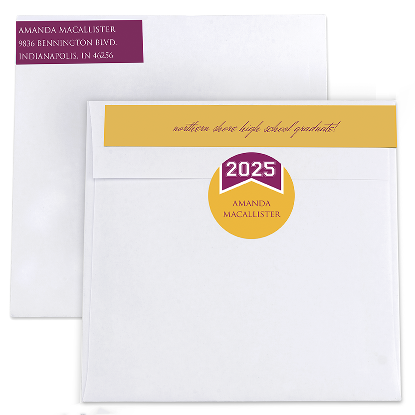 Show Your Spirit Return Address Labels and Seals