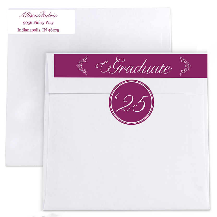Valedictorian Vintage Return Address Labels and Seals