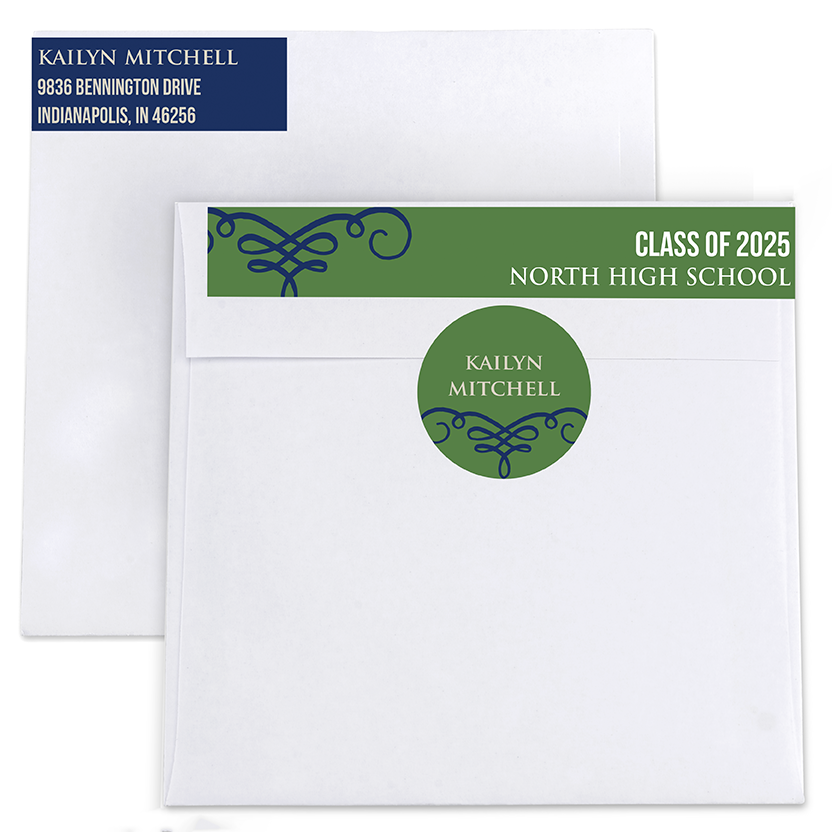 Whirlwind Return Address Labels and Seals