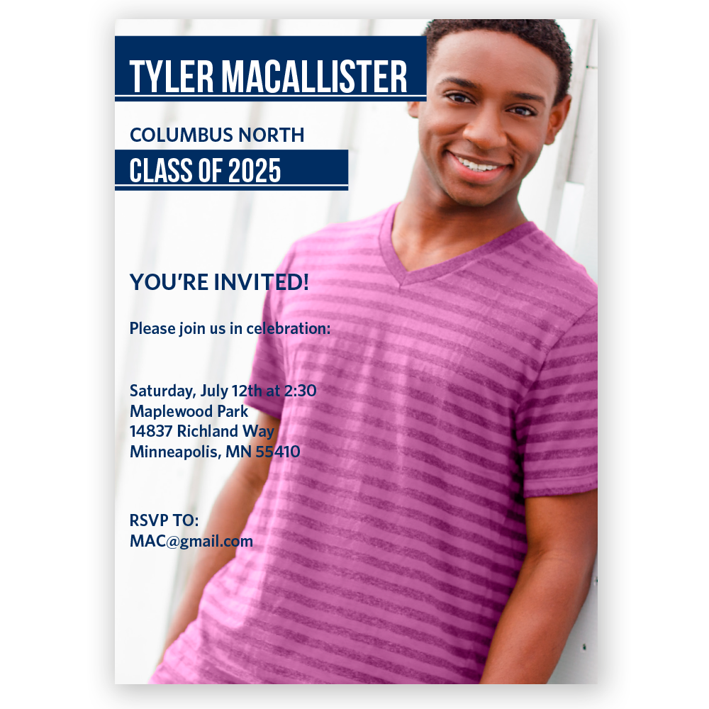 Yearbook Page Invitations