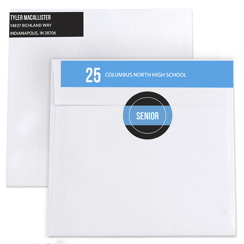 Yearbook Page Return Address Labels and Seals