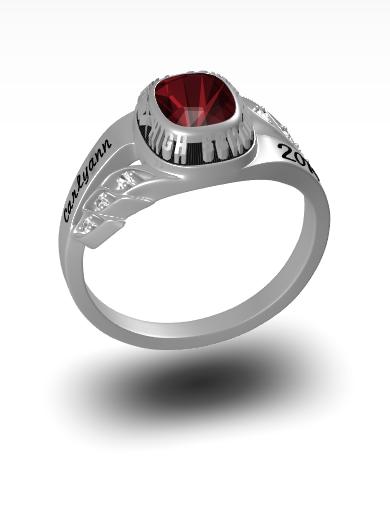 Captiva Square Ring