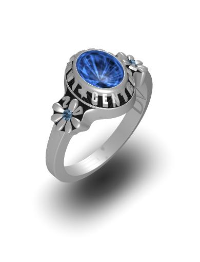 Daisy Oval Ring