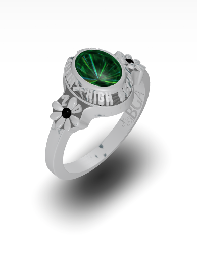Belkys's Daisy Oval Ring