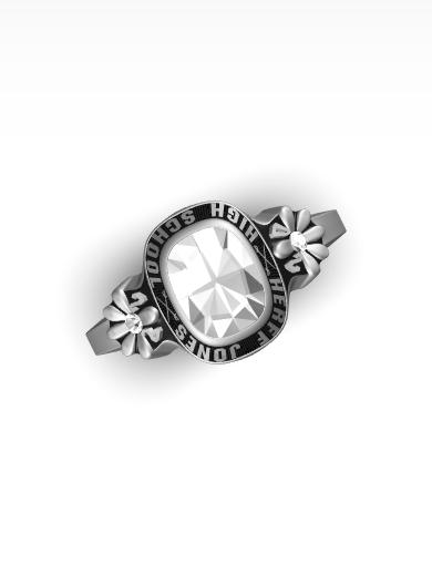 azia's Daisy Square Ring
