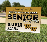 Class of 2021 Yard Sign - Custom for West Scranton - double sideded