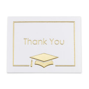 25 Thank You Notes - Gold Foil