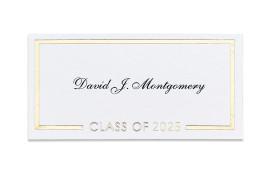 Premium Graduate Namecards
