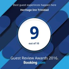 heritage inn guest house bookings.com award 9/10