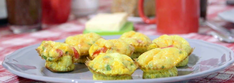 Muffins aux oeufs et petits pois carottes