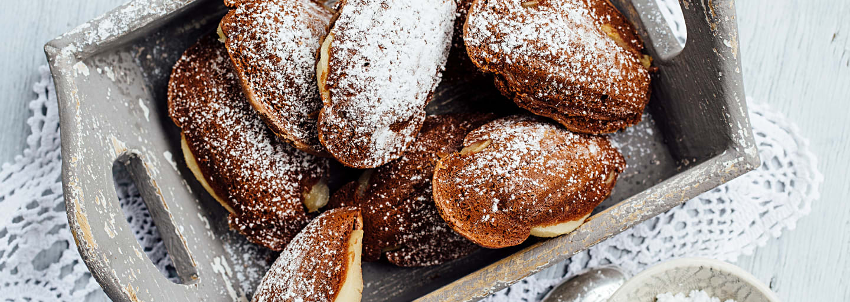 Madeleines poire-chocolat