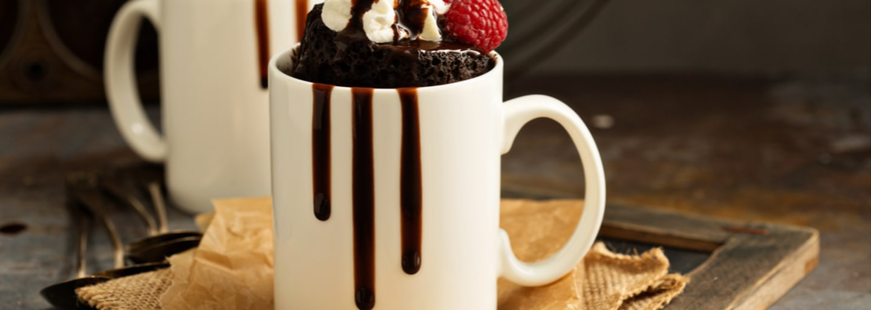 Mug cake de chocolate con Mermelada 1886 de Fresa con Trozos
