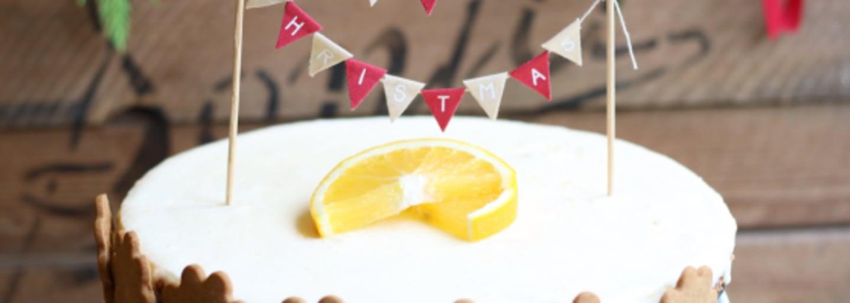 Glutenfri apelsin- & pepparkakscheesecake