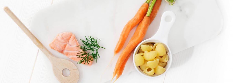 Recept - Pasta med lax 6M - Semper Barnmat