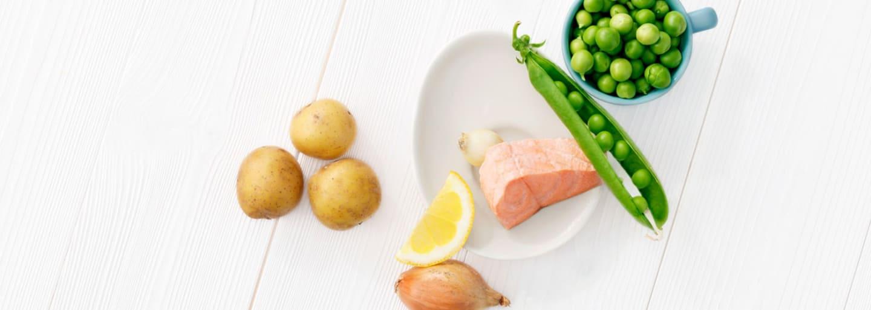 Recept - Potatis & lax med ärtor - Semper Barnmat