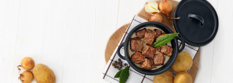 Recept - Potatis med köttgryta 6M - Semper Barnmat