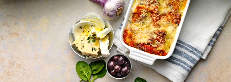 Glutenfri vegetarisk lasagne i pajform
