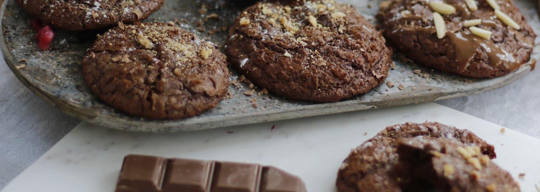 Glutenfria chokladkakor med topping