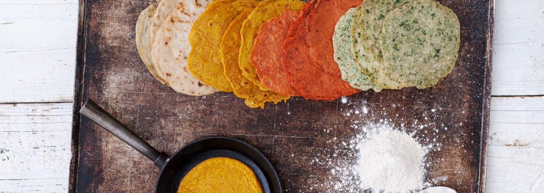 Glutenfria tortillas, bakade med Semper Bovete & Teff mjöl