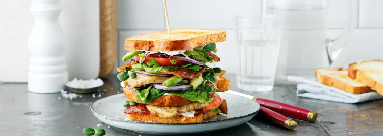 Gluteeniton Club Sandwich