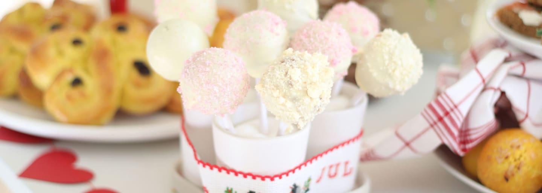 Glutenfria cake pops med topping
