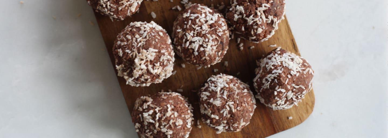 Glutenfria chokoladekugler med kokos