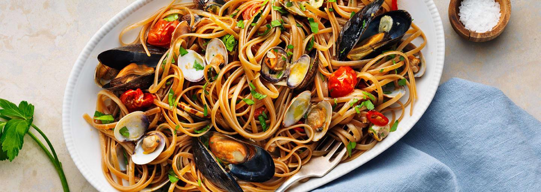 Glutenfri linguine frutti di mare