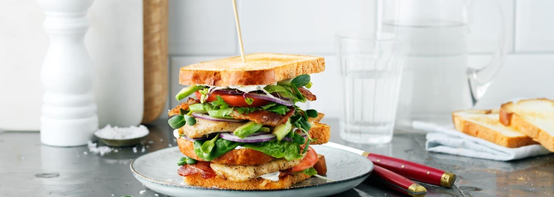 Glutenfri club sandwich